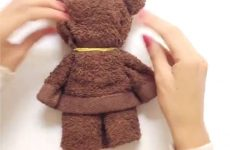 How To Make A Teddy Bear From A Towel
