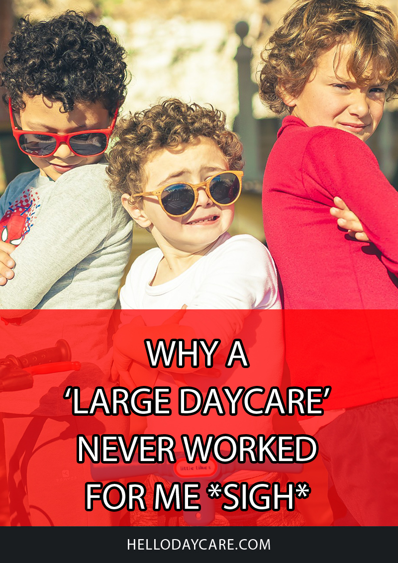 Why a 'Large Daycare' Never Worked for Me *Sigh*
